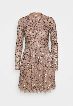 ALL OVER SEQUIN LONG SLEEVE MINI DRESS - Vestido de cóctel - multi