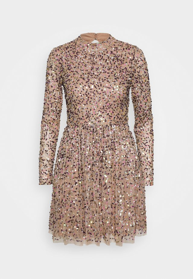ALL OVER SEQUIN LONG SLEEVE MINI DRESS - Cocktail dress / Party dress - multi