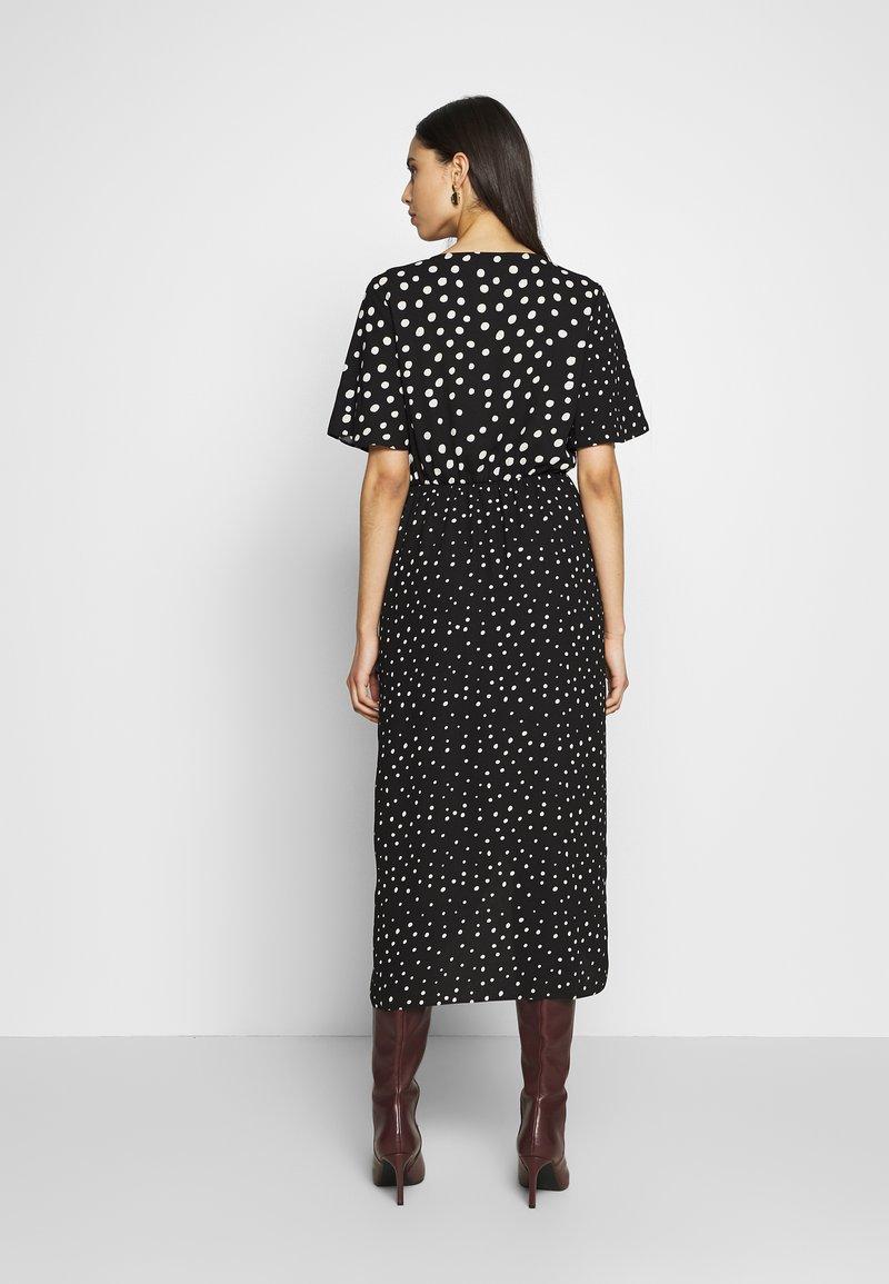 Dorothy Perkins Tall - MIX AND MATCH SPOT MANIPULATED WAIST DRESS - Day dress - black