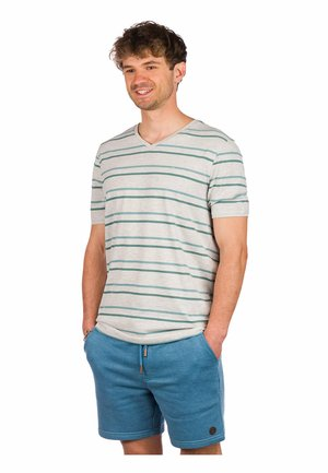 Print T-shirt - light heather grey/stripe