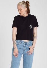 Volcom - CORAL MORPH S/S - Print T-shirt - black - 0