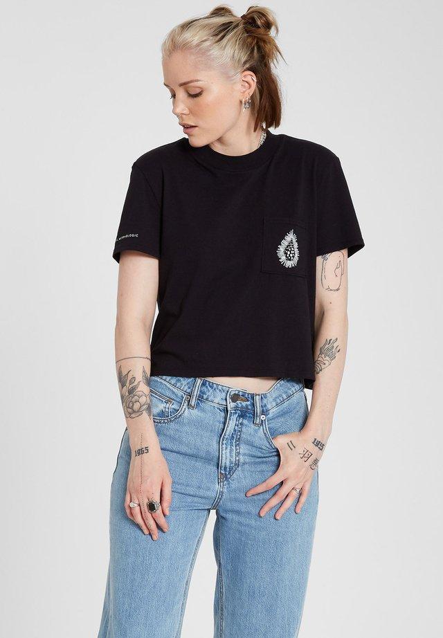 CORAL MORPH S/S - T-shirt imprimé - black