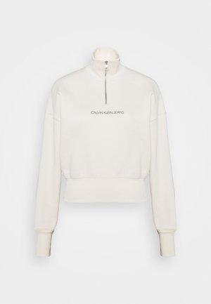 BACK REFLECTIVE LOGO HALF ZIP - Sweatshirt - white sand