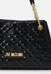 Love Moschino - NEW SHINY QUILTED - Tote bag - black - 3