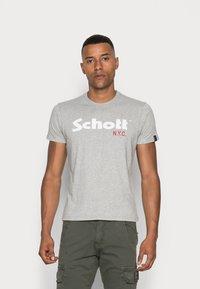 Schott - LOGO 2 PACK - Print T-shirt - navy/grey - 1