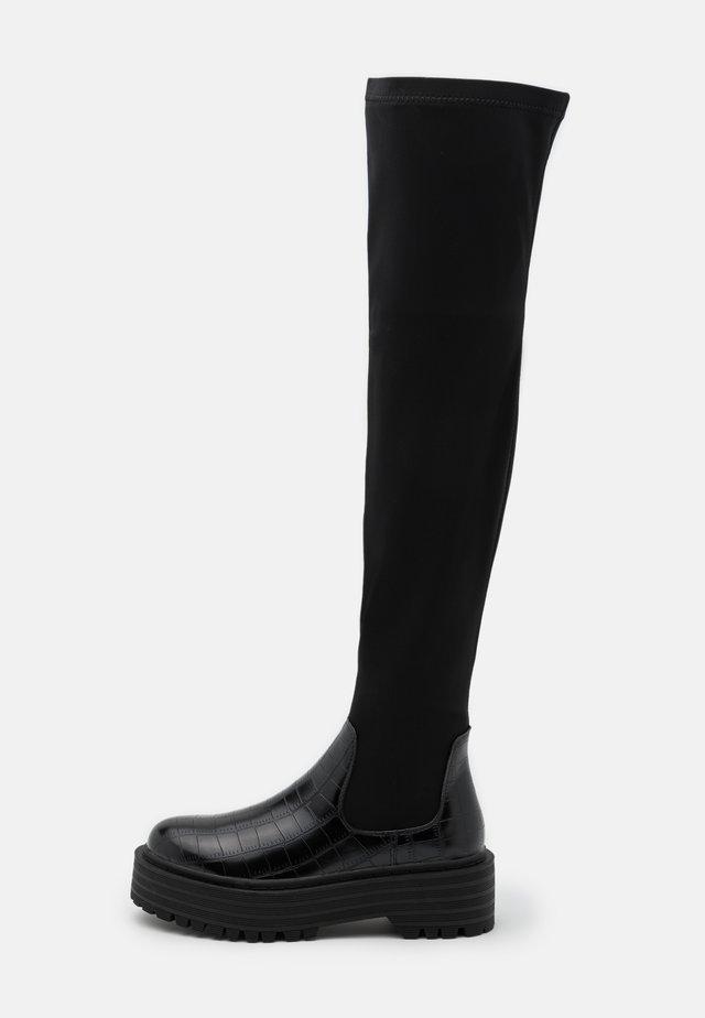 RANGER - Overknee laarzen - black
