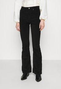 Topshop - JAMIE - Flared Jeans - black - 0