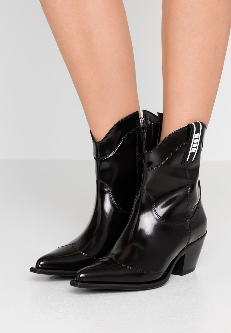 MSGM - Cowboy/biker ankle boot - black