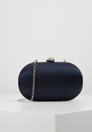 ROUNDED BOX CLUTCH - Pikkulaukku - navy