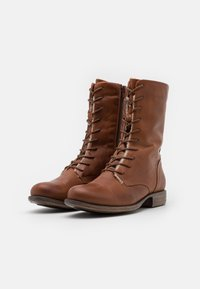 Anna Field - LEATHER - Lace-up boots - cognac - 2