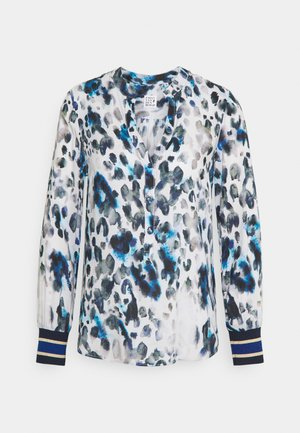 Blouse - blue/white