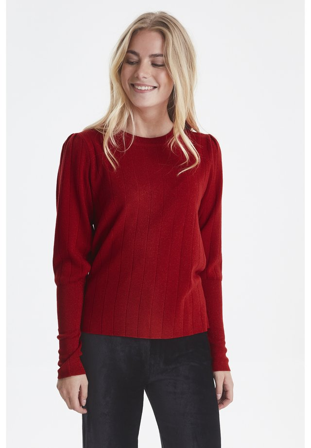 PZJADE  - Sweter - chinese red