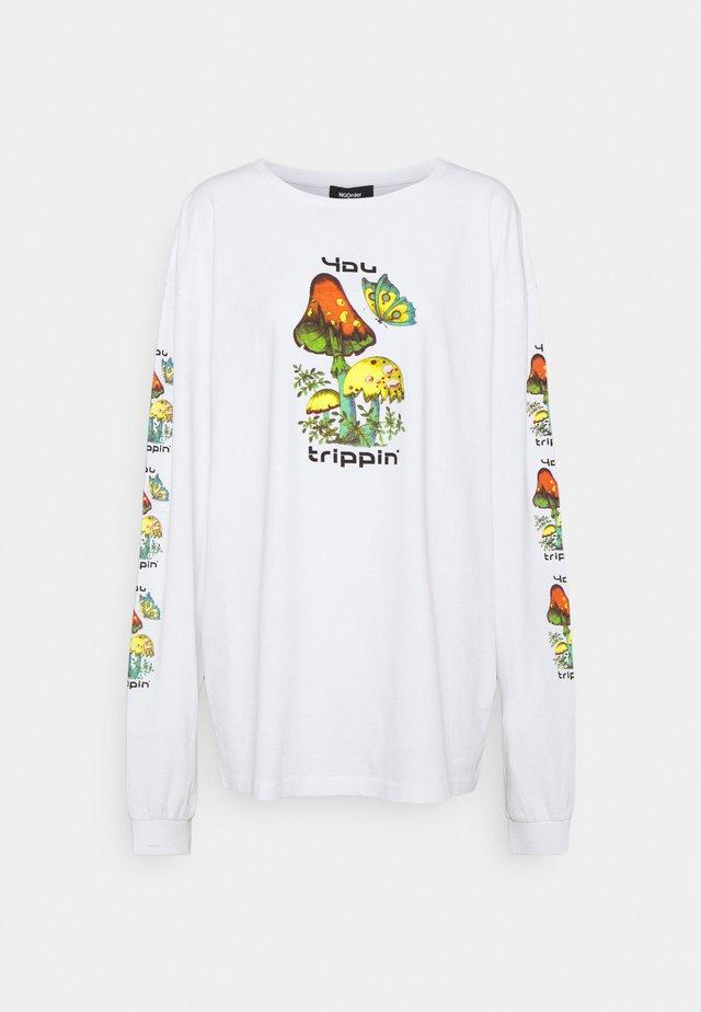 YOU TRIPPIN' LONGSLEEVE - Topper langermet - white