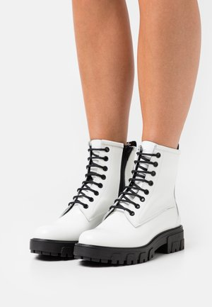 NEW ALPHA - Lace-up ankle boots - white