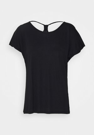 ONLCARRIE CROSS BACK - Print T-shirt - black