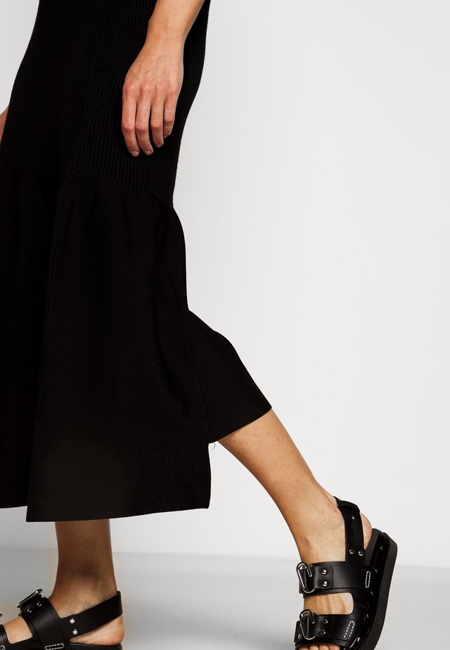 A LINE SKIRT PEPLUM HEM - Pencil skirt - black