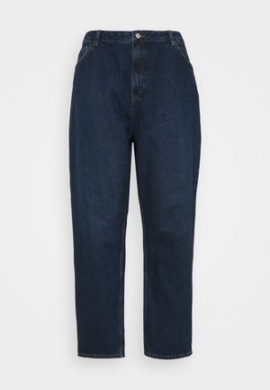 HIGH RISE TAPERED MOM - Džíny Relaxed Fit - dark blue wash