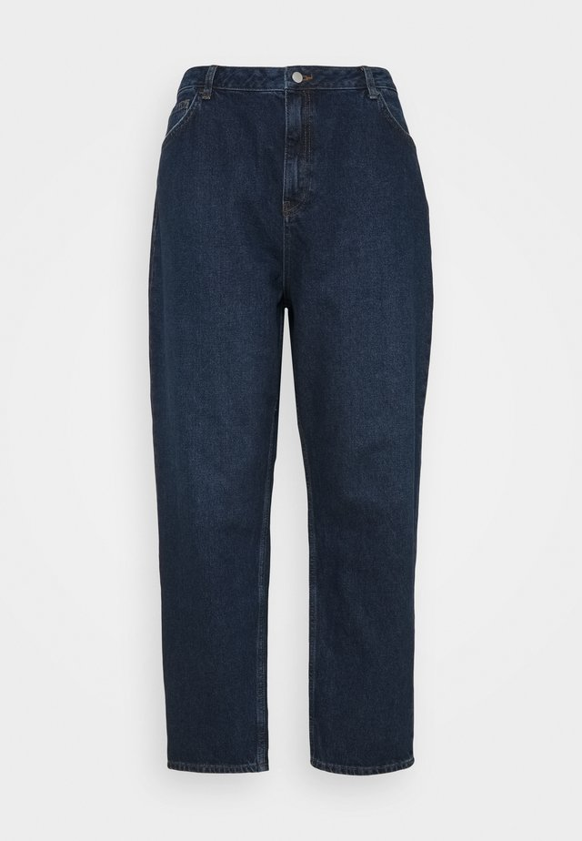 HIGH RISE TAPERED MOM - Jeans baggy - dark blue wash