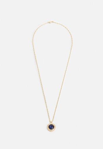 CIRCLE STONE PENDANT NECKLACE UNISEX - Kaulakoru - gold-coloured