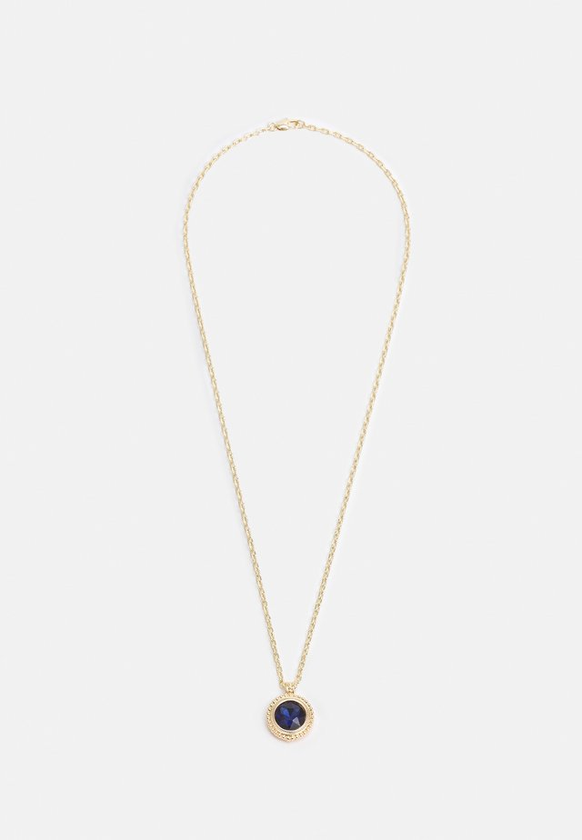 CIRCLE STONE PENDANT NECKLACE UNISEX - Necklace - gold-coloured