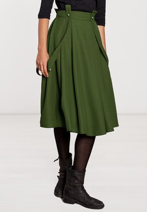 MIT TRÄGERN  - A-line skirt - grün