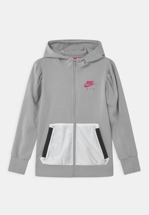 AIR HOODIE - Mikina na zip - light smoke grey
