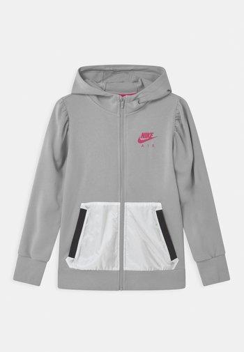 AIR HOODIE - Zip-up sweatshirt - light smoke grey