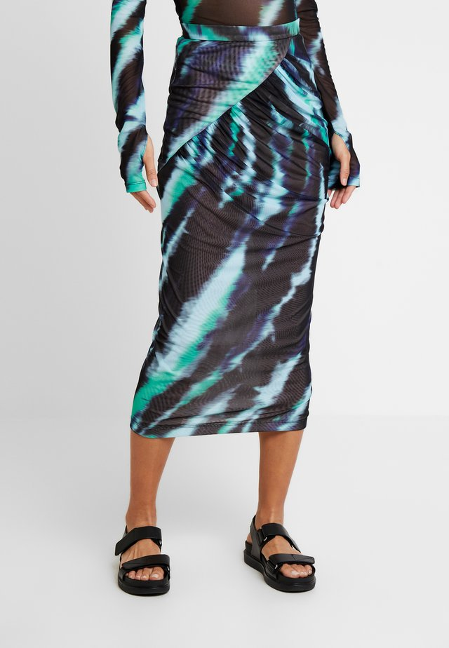 TIE DYE MIDI SKIRT - Pencil skirt - mint multi