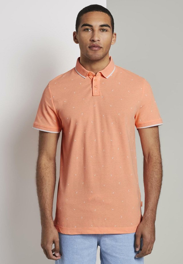 ALLOVER-PRINT - Polo - orange mini vacation print