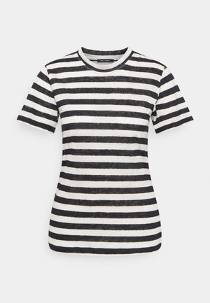 SHORT SLEEVE ROUND NECK SLIM FIT STRIPED - Triko s potiskem - mutli/dark atlantic