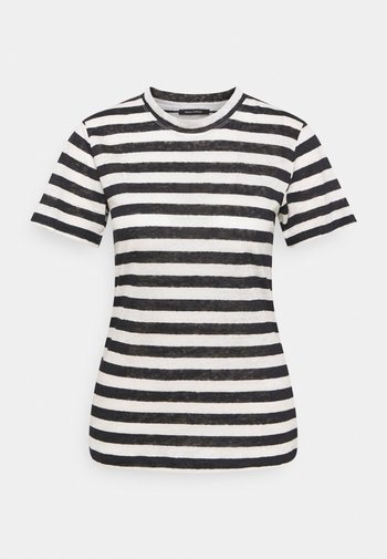 SHORT SLEEVE ROUND NECK SLIM FIT STRIPED
