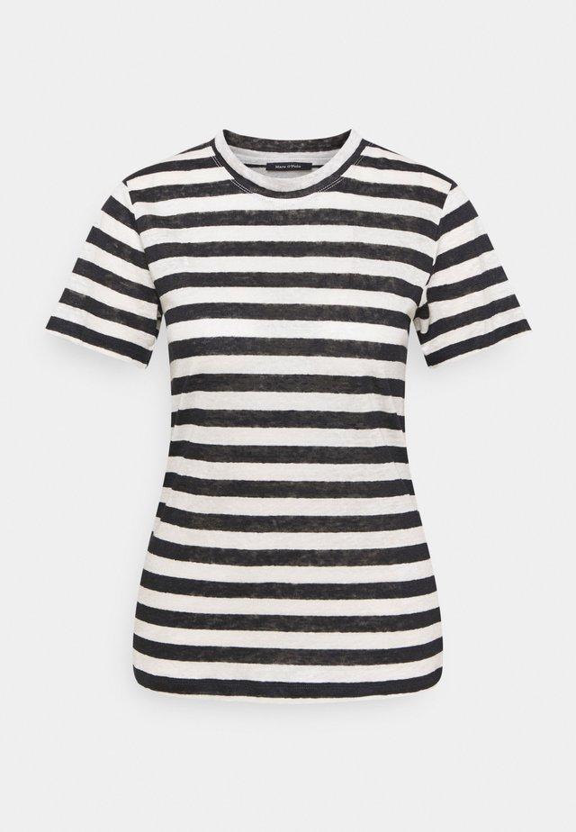 SHORT SLEEVE ROUND NECK SLIM FIT STRIPED - Print T-shirt - mutli/dark atlantic