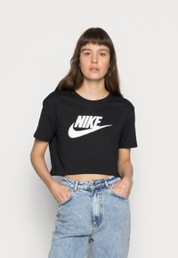 Nike Sportswear - TEE - T-shirts med print - black/white - 0