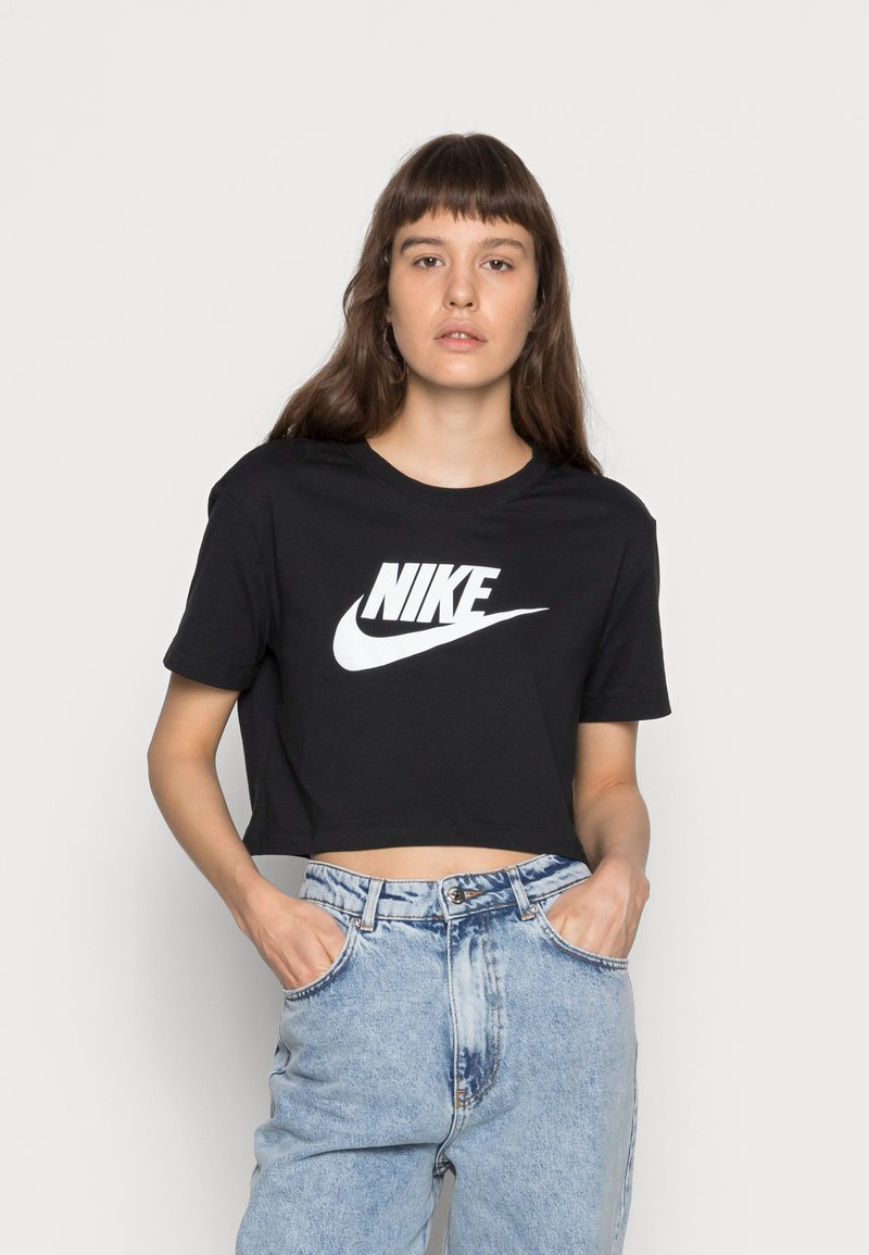 Nike Sportswear - TEE - T-shirts med print - black/white