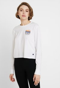 Hollister Co. - LONG SLEEVE IMAGERY  - Top s dlouhým rukávem - white - 0