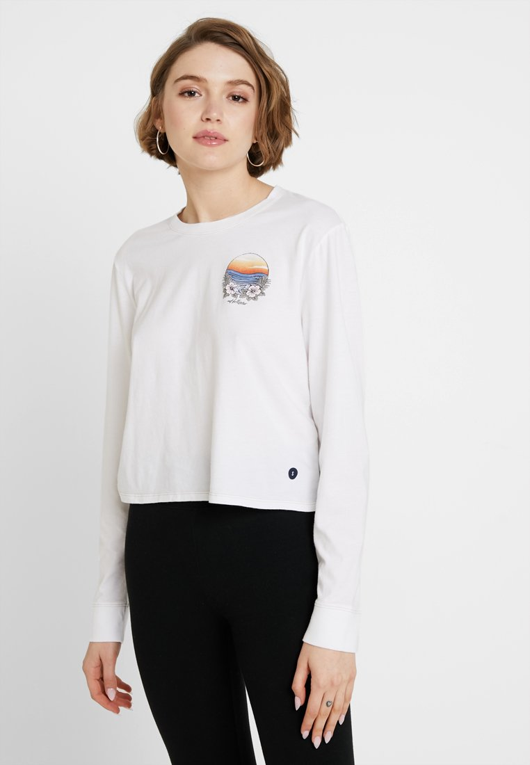 Hollister Co. - LONG SLEEVE IMAGERY  - Top s dlouhým rukávem - white