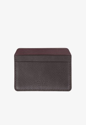 PERFORATED - Business card holder - brown