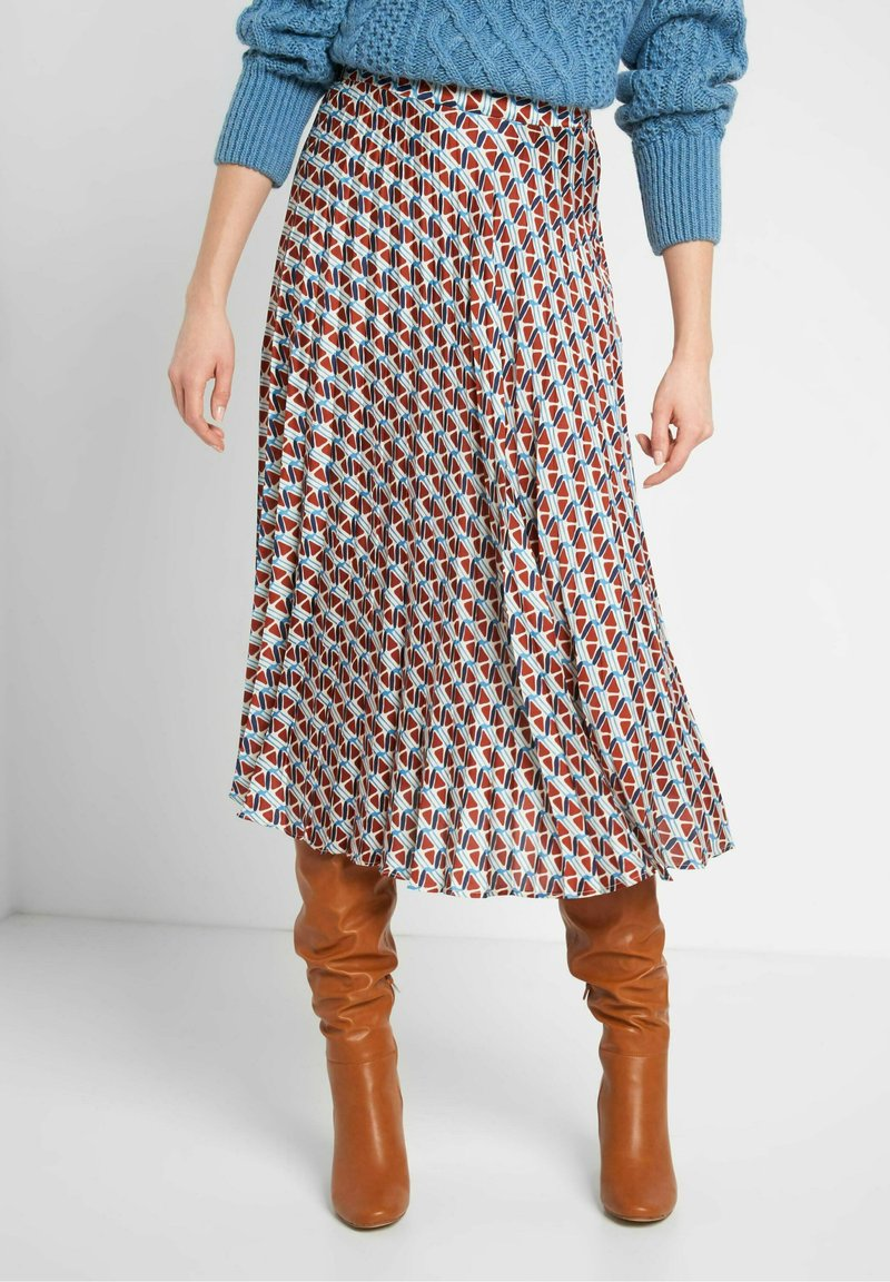 ORSAY - MIT MUSTER - A-line skirt - herbstrot