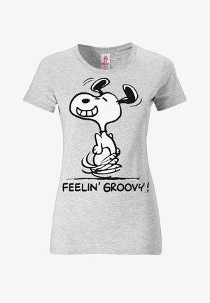 SNOOPY FEELIN GROOVY   - Print T-shirt - grau-meliert
