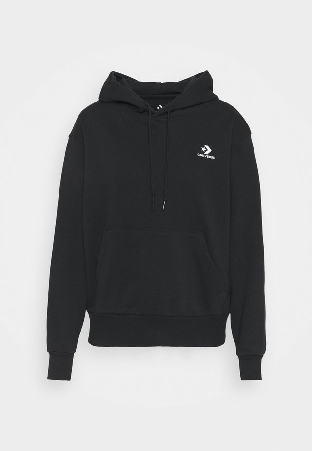 EMBROIDERED LOGO HOODIE - Sweatshirt -  black