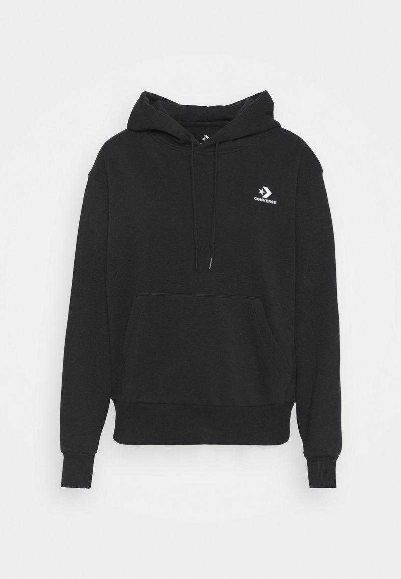 Converse - EMBROIDERED LOGO HOODIE - Sweatshirt -  black