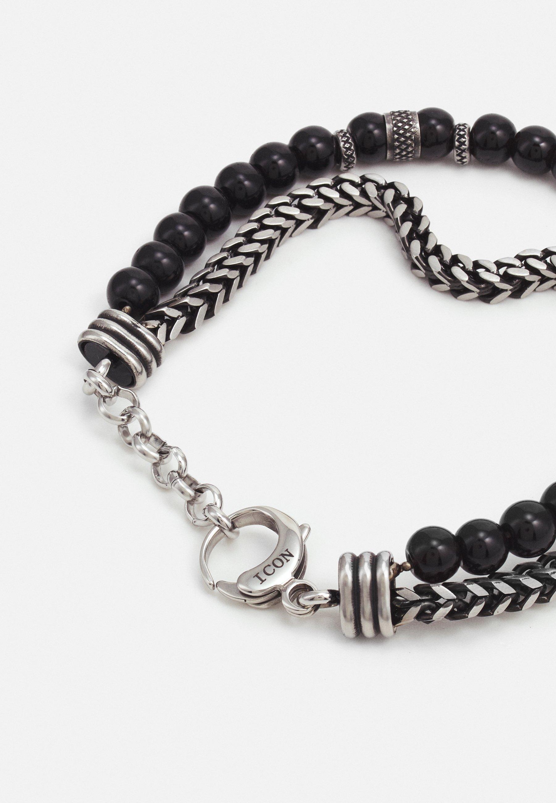 Homme CHAIN AND BEADED BRACELET - Bracelet
