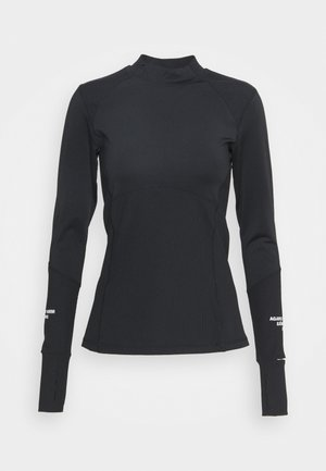 NIGHT WARMBRUSHED - Long sleeved top - black beauty