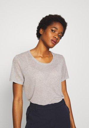 HEIDL - Basic T-shirt - light grey melange