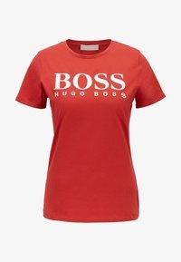 BOSS - ELOGO - Print T-shirt - red - 4