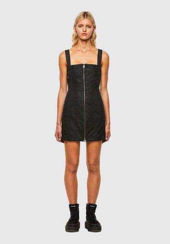 VOLCANO - Denim dress - black