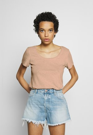 LOOK MAPLE SUGAR LINEN MIX - T-shirt basic - maple sugar