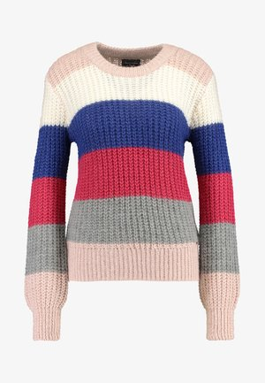 BALLOON SLEEVE SWEATER - Strickpullover - multi-color