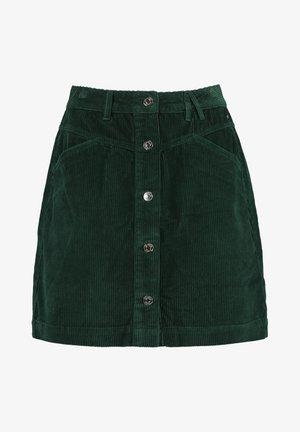 A-line skirt - bottle green