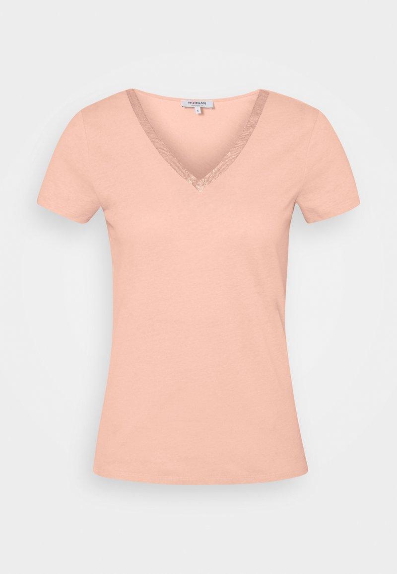 Morgan - DORE - Print T-shirt - nude